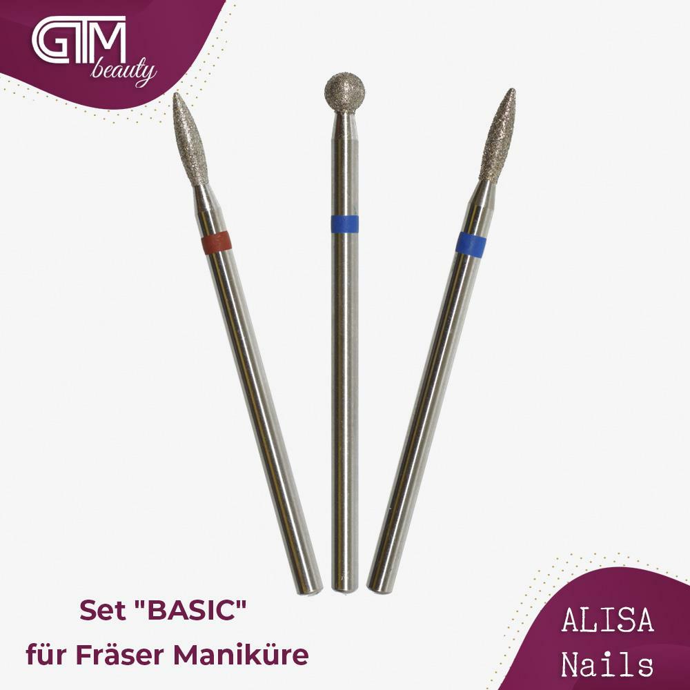 "ALISA Nails - Set ""BASIC"" für Fräser Maniküre"