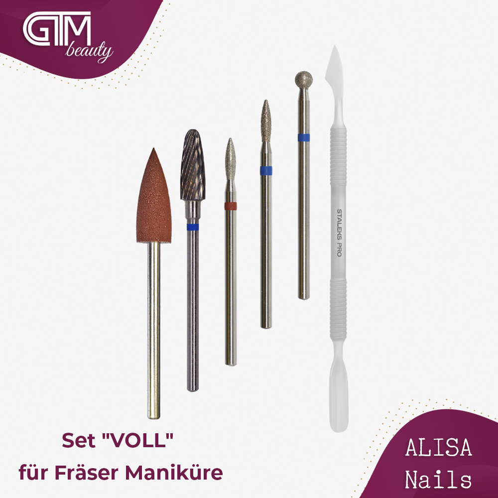 "ALISA Nails - Set ""VOLL"" für Fräser..."